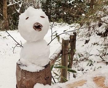 チビ雪だるま.JPG